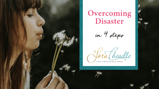 When everything seems to be going wrong, let go of control and focus what you can do to overcome disaster.